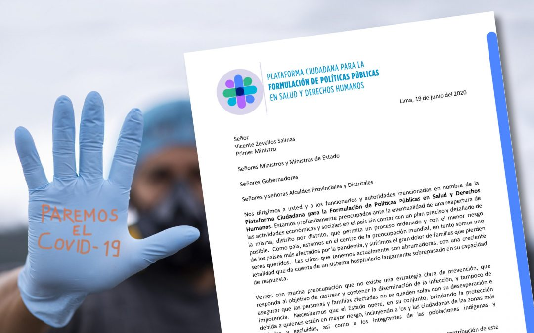 Carta al Gobierno: Estrategias de Intervención y Control de la Pandemia