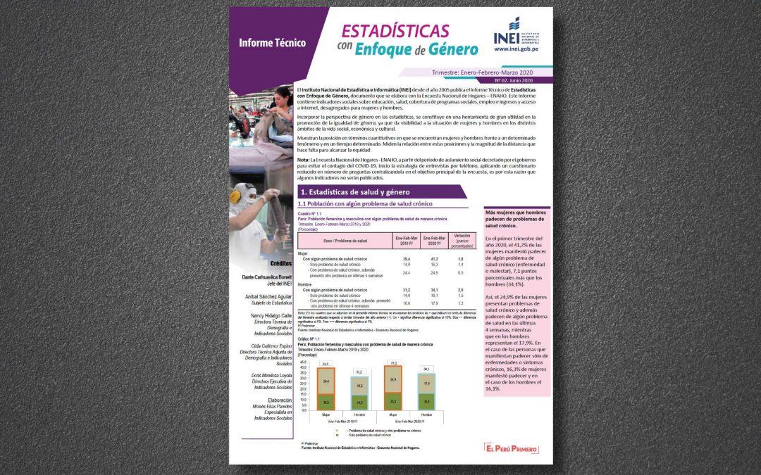 Estadísticas con enfoque de género Nro. 2