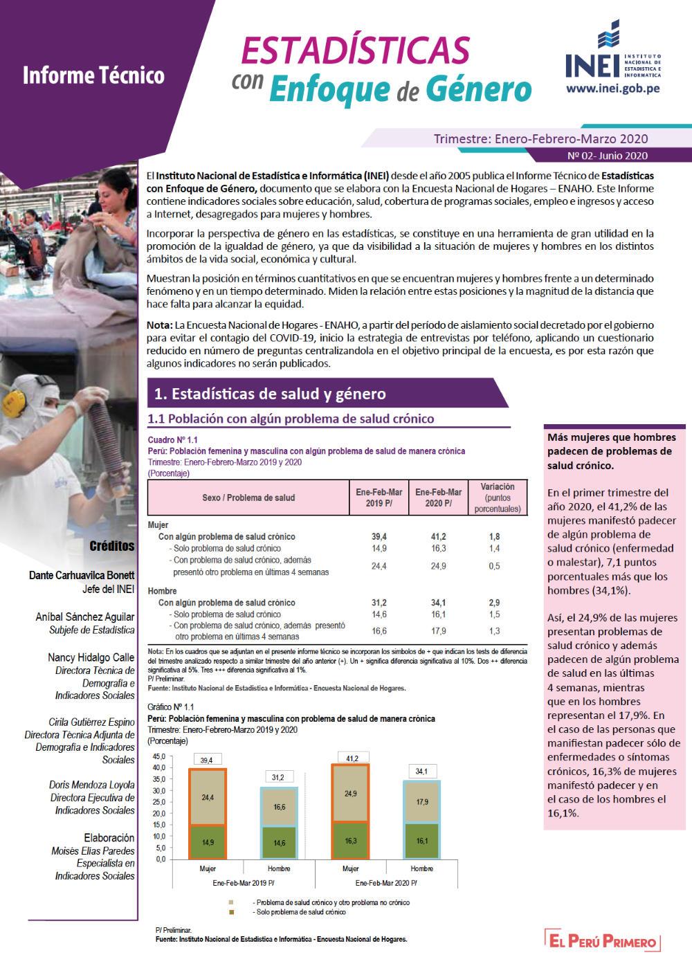 Estadísticas con enfoque de género Nro. 2   saludyderechos.org