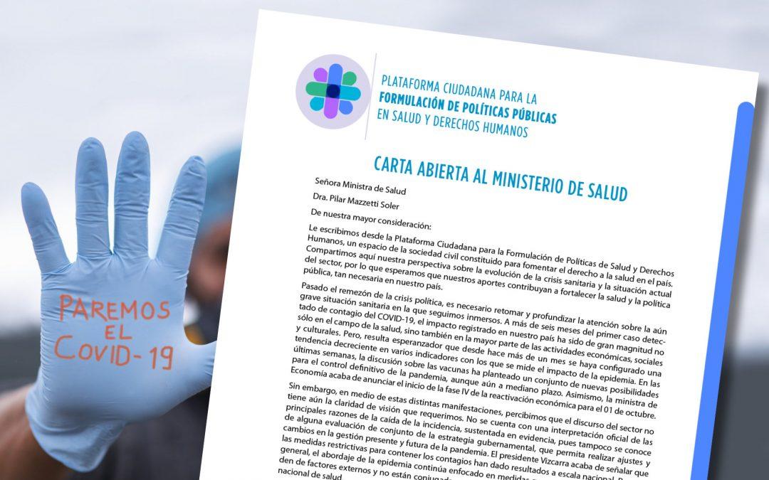 Carta al Ministerio de Salud