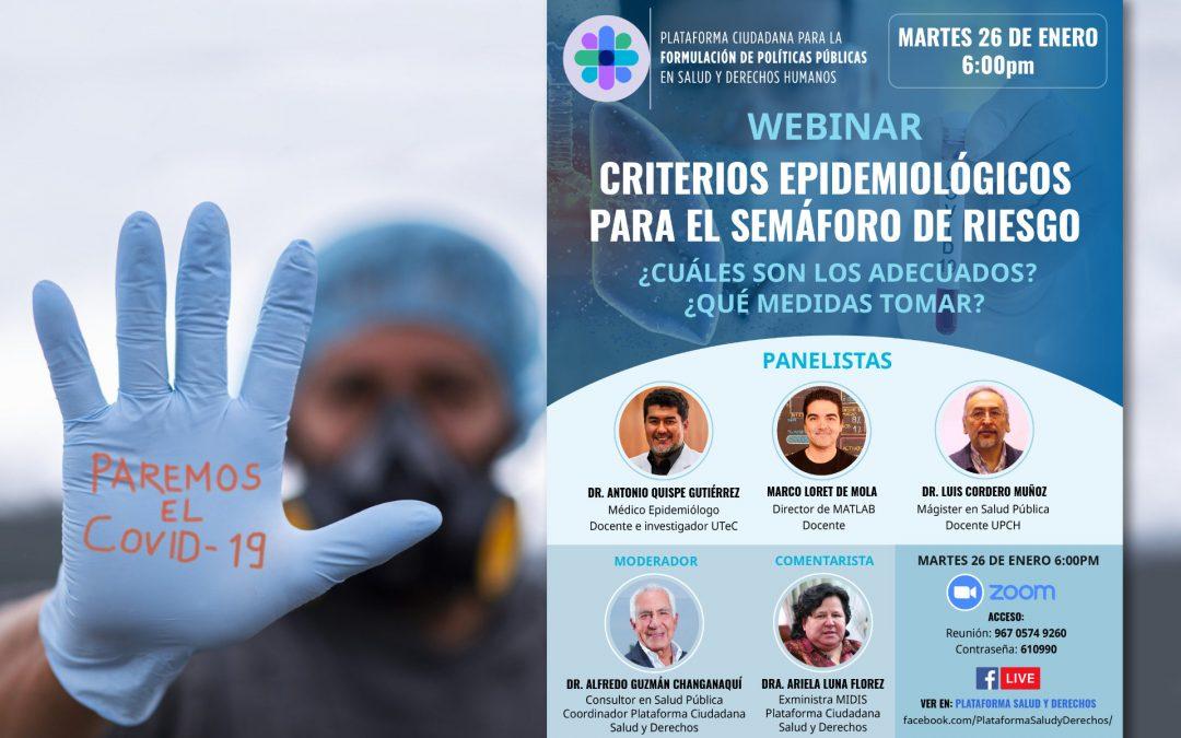 Webinar: Criterios epidemiológicos para el semáforo de riesgo