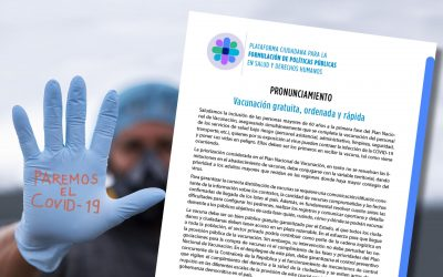 Pronunciamiento: Vacunación gratuita, ordenada y rápida
