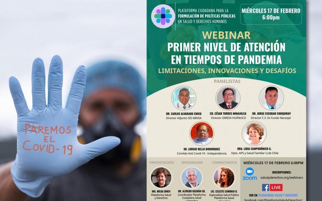 Webinar: Primer nivel de atención en tiempos de pandemia